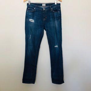 Hudson Jeans Boyfriend Fit w/Distressed Look 25